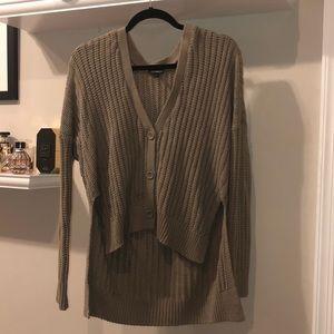 Express high low button sweater